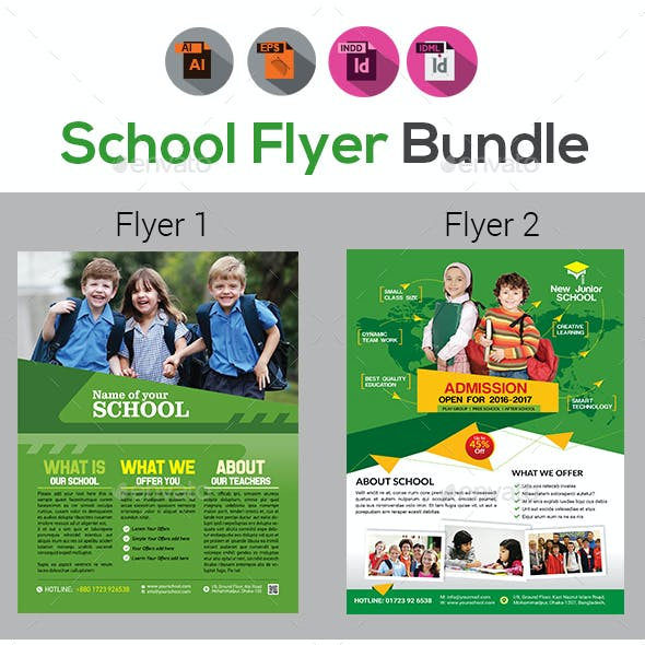 Junior School Promotion Flyers Bundle