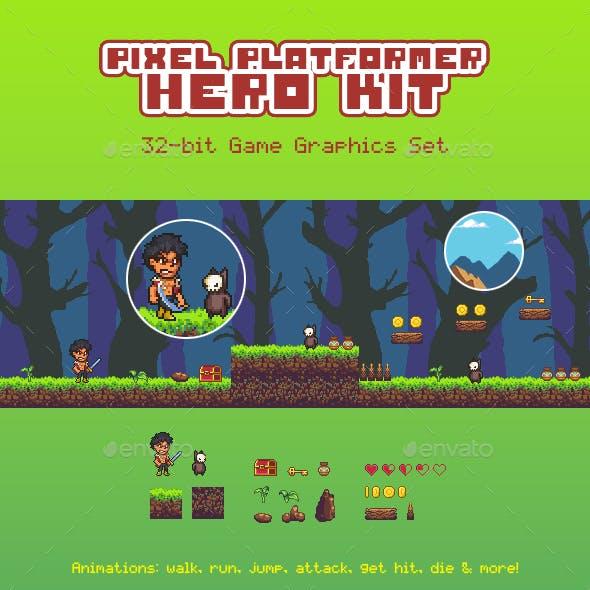 Pixel Platformer Hero Kit