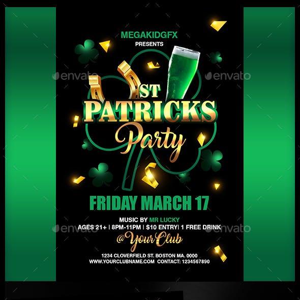 St. Patricks Party Flyer Template