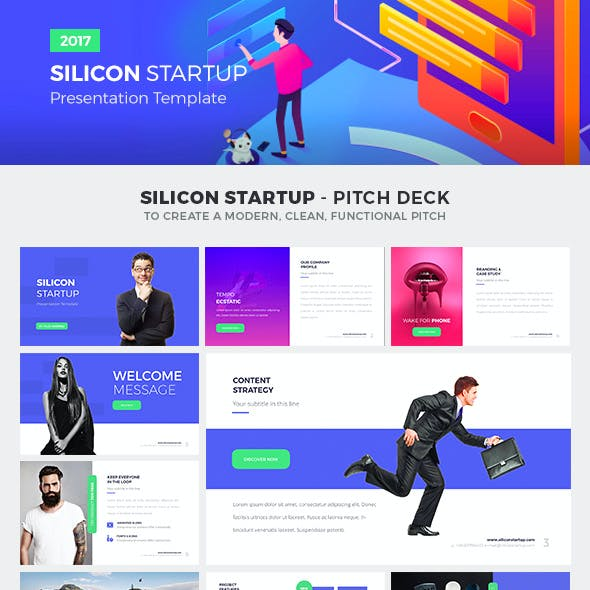 Silicon Startup - Google Slides Presentation Template