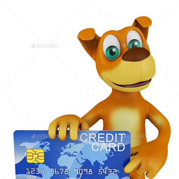 Dog Holding a Credit Card