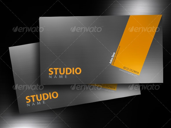 Brushed Aluminium Business Card - Corporate Business Cards