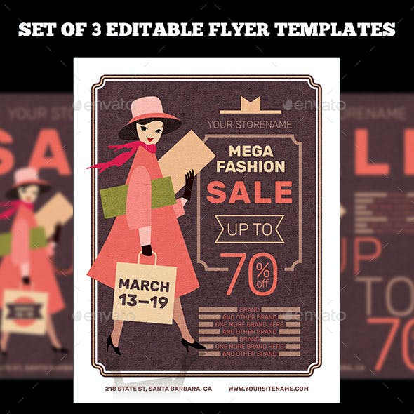 Fashion Sale Flyer templates