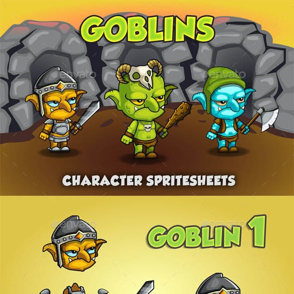 Goblin 2D Game Character Sprite Sheet