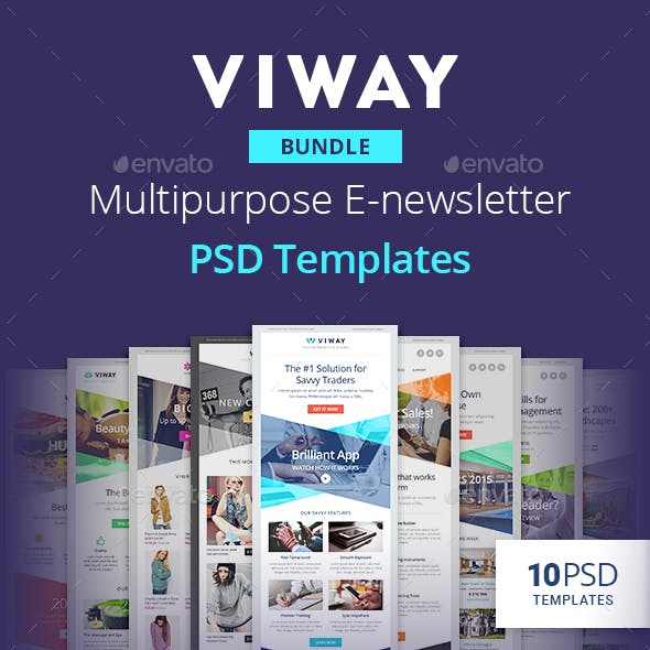Viway Bundle - Multipurpose E-newsletter PSD Templates