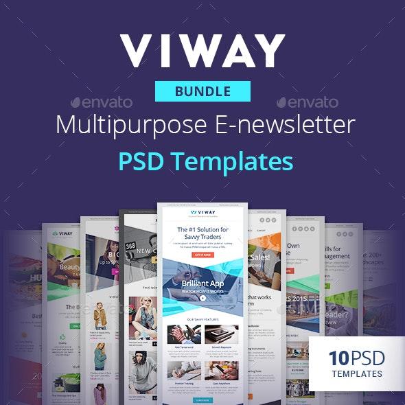 Viway Bundle - Multipurpose E-newsletter PSD Templates - E-newsletters Web Elements