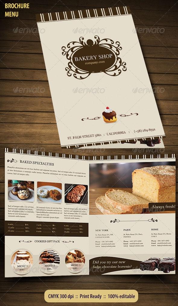 Bakery Menu Brochure - Corporate Brochures