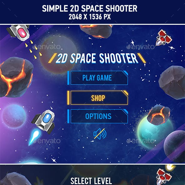 2D Space Shooter Game Asset