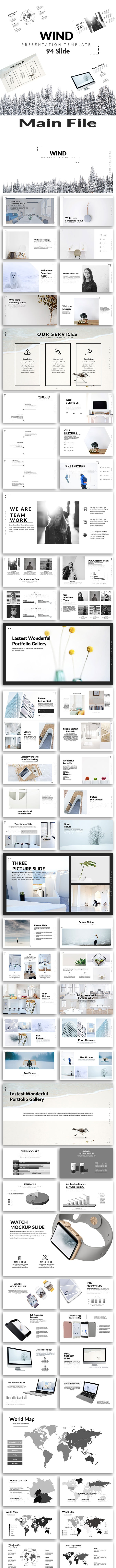 Wind - Creative PowerPoint Template - Creative PowerPoint Templates