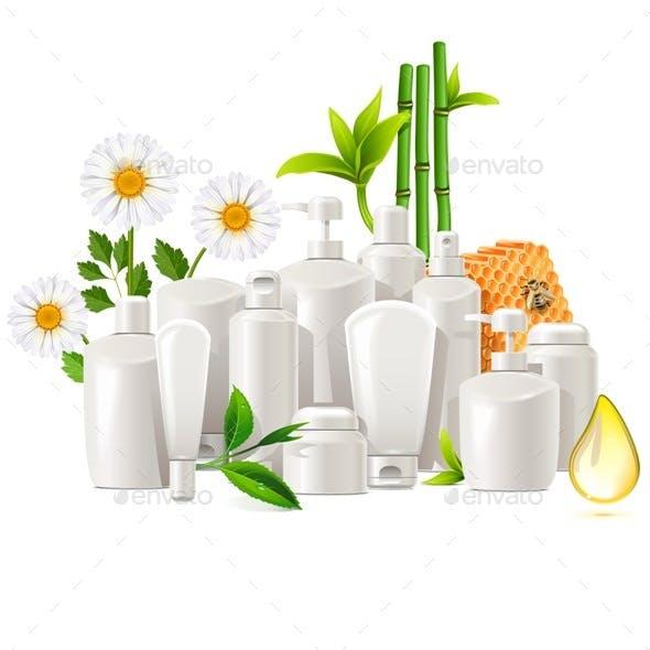 Vector Natural Cosmetics Concept