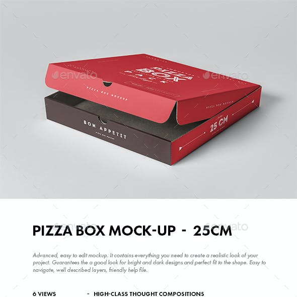 25 Pizza Box Mock-up