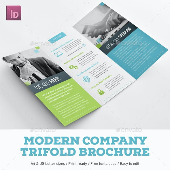 Modern Company Trifold Brochure
