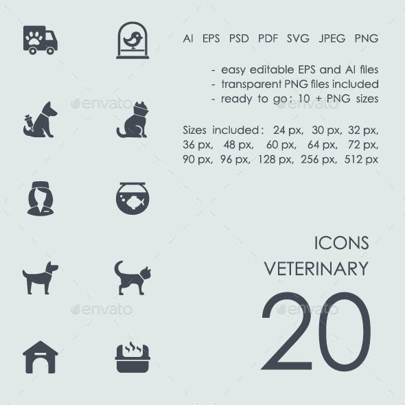 Veterinary icons