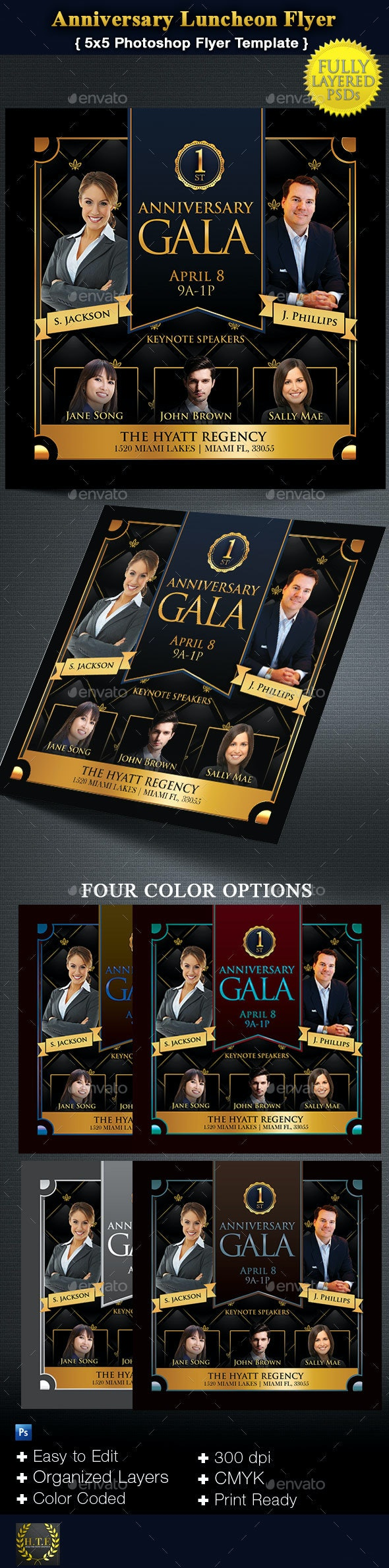 1st Anniversary Gala - Events Flyers