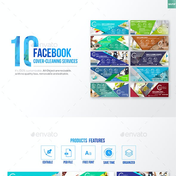 10 Facebook Cover - Cleaning Service