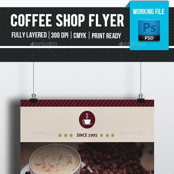 Minimal Coffee Shop Flyer-V138