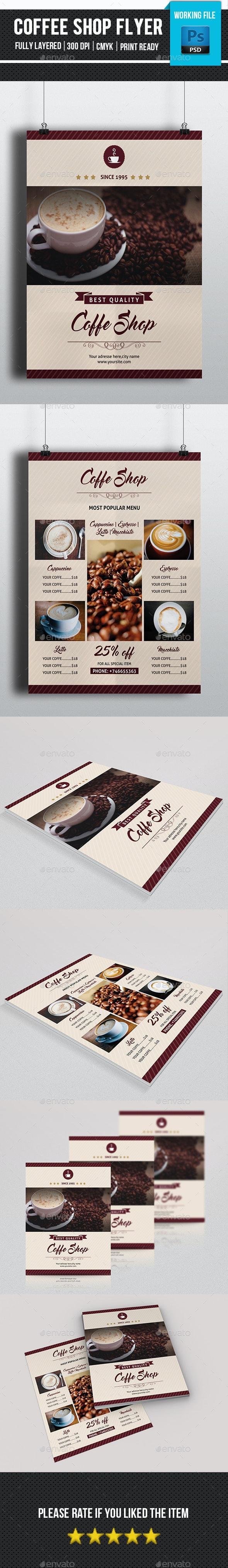 Minimal Coffee Shop Flyer-V138 - Food Menus Print Templates