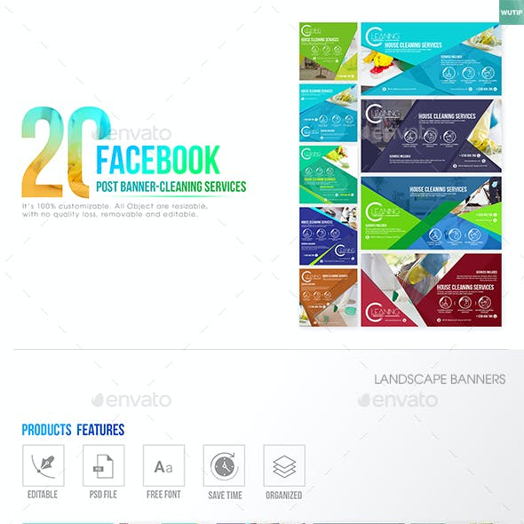 20 Facebook Post Banner – Cleaning Service
