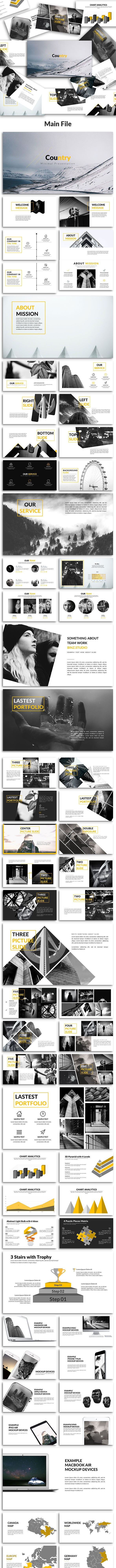 Country - Presentation PowerPoint Template - Creative PowerPoint Templates
