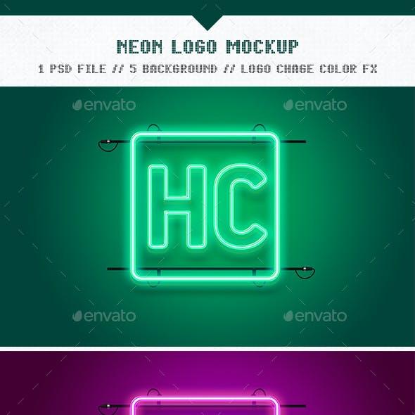 Neon Logo Mockup