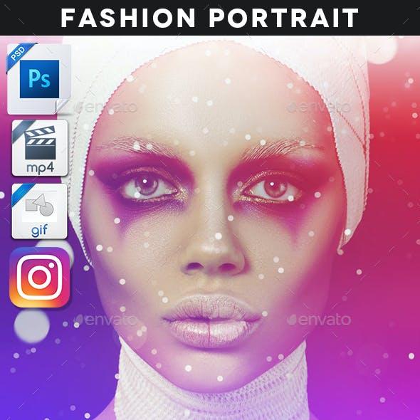 Animated Fashion Portrait Template