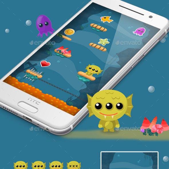Sea Monster Jump Game Kit