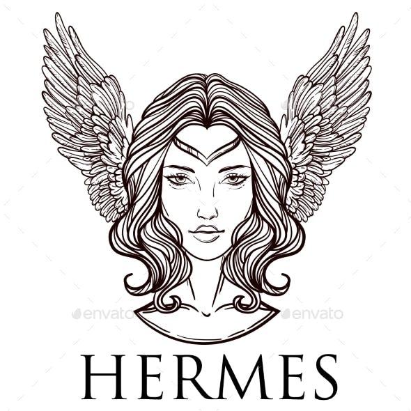 Vector Illustration of the Greek God Hermes