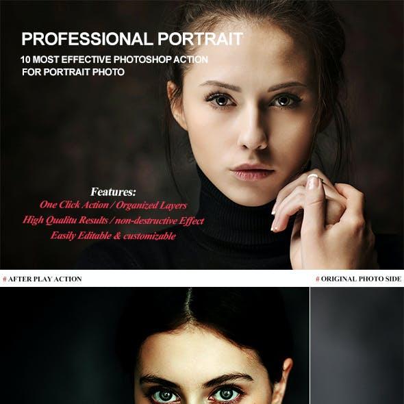 Professional Portrait Photoshop Action