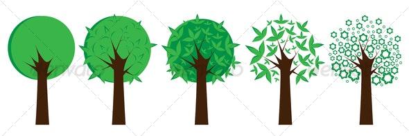 Set of trees - Decorative Vectors