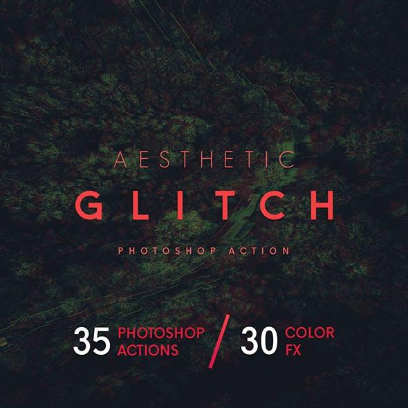 Aesthetic Glitch - Photoshop Action