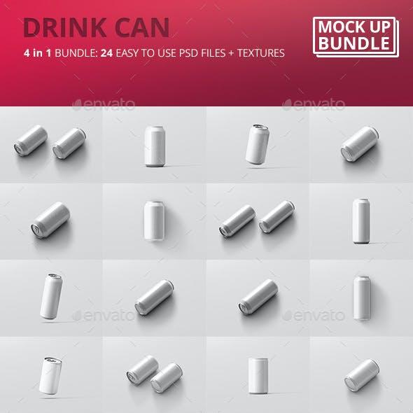Drink Can Mockup Bundle