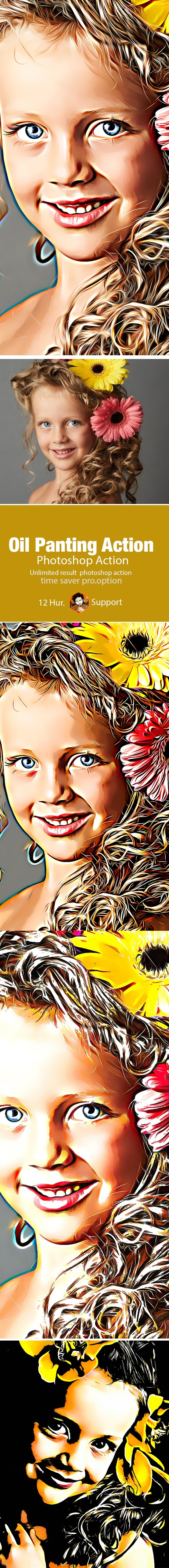 Oil Panting Photoshop Action - Photo Effects Actions