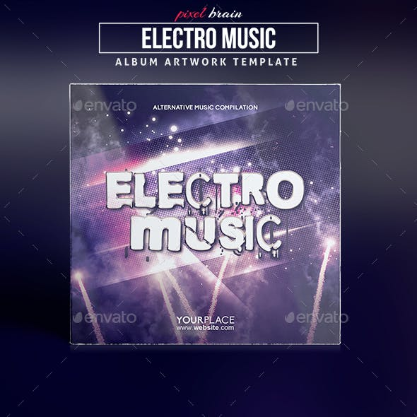 Electro Music CD Cover Artwork