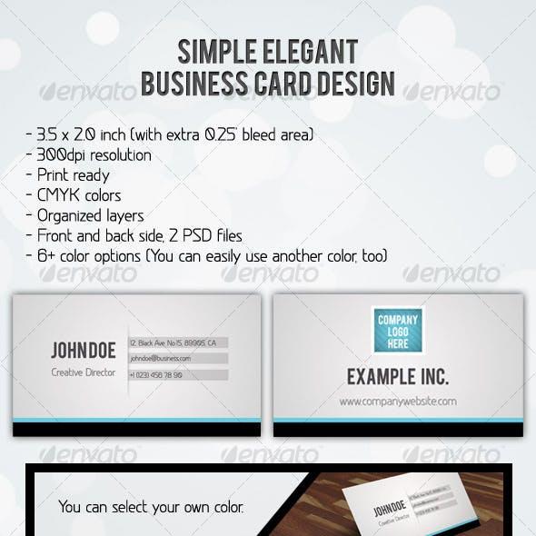 Simple Elegant Business Card