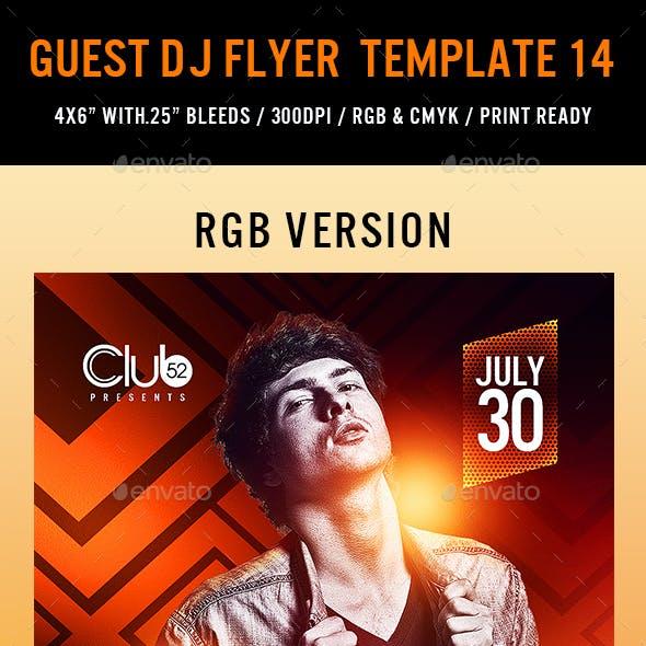 Guest DJ Flyer Template 14