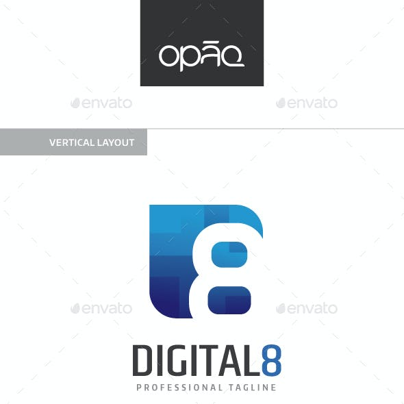 Digital Eight 8 Logo