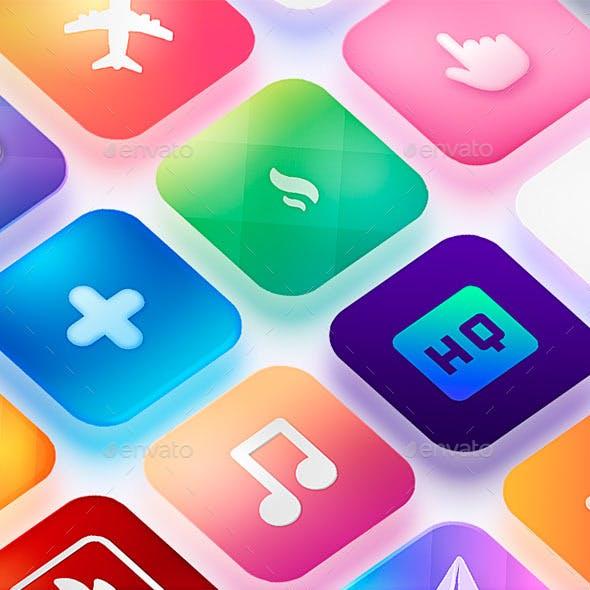 Icon App Maker - 20 PSD Mock-Ups