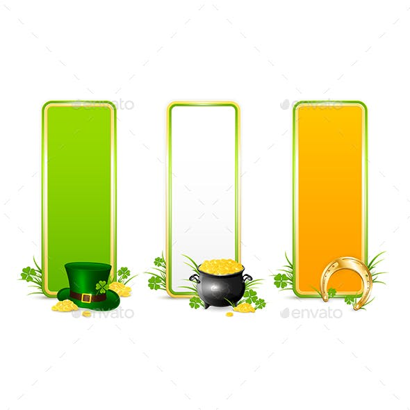 Three Patricks Day Color Banners