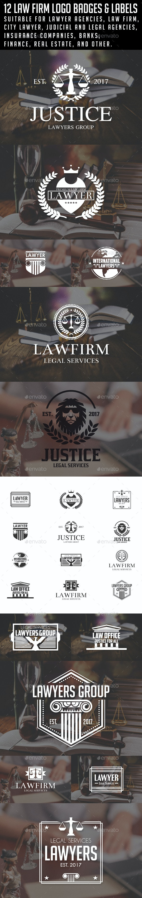 Law / Lawyer Logos & Badges - Badges & Stickers Web Elements