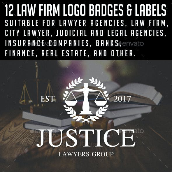 Law / Lawyer Logos & Badges