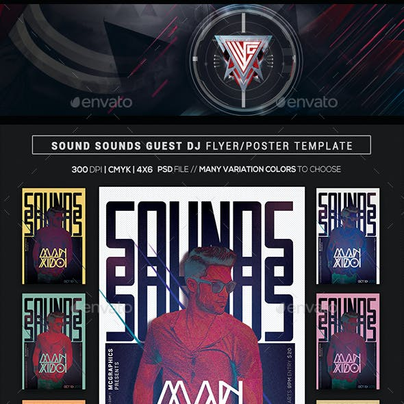 Sound Sounds Guest Dj Flyer/Poster Template