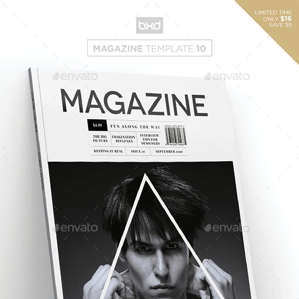Magazine Template - InDesign 40 Page Layout V10