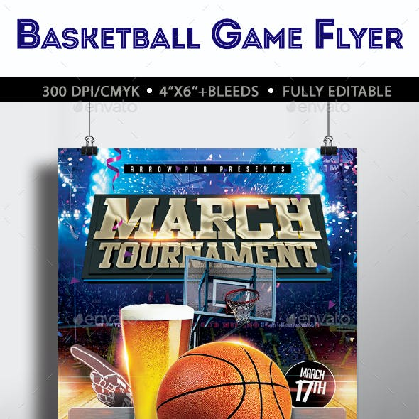 March Madness Basketball Flyer