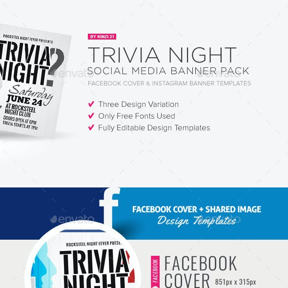Trivia Night Social Media Pack