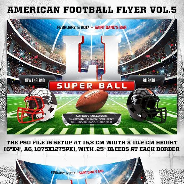 American Football Super Ball Flyer vol.5