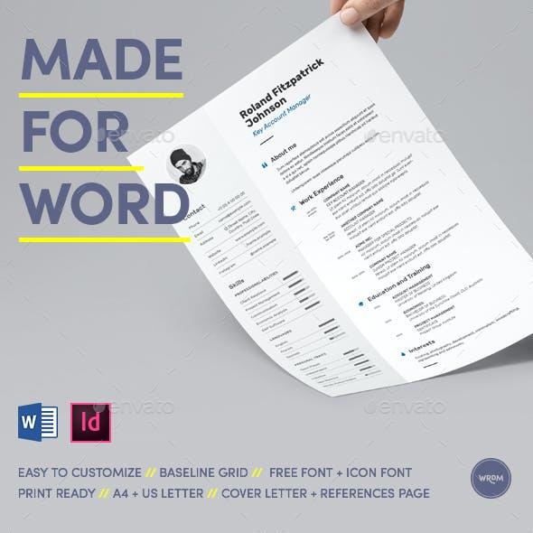 Light Resume Made for Word