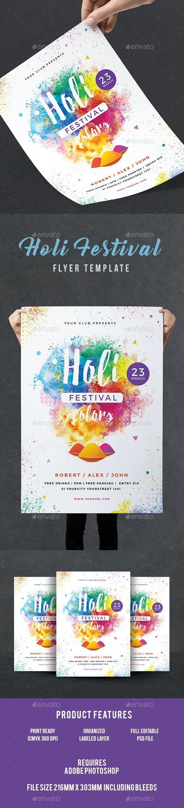 Holi Party Flyer - Events Flyers