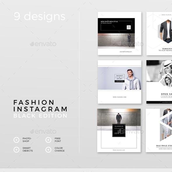 Fashion Instagram – Black Edition