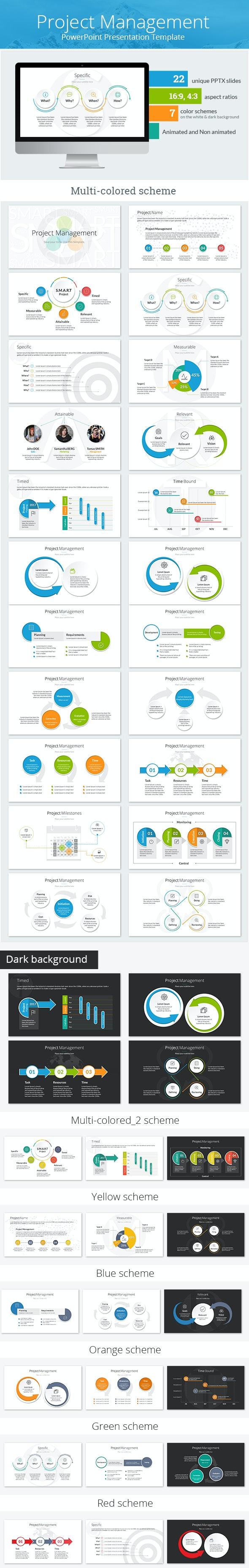 Project Management PowerPoint Presentation Template - PowerPoint Templates Presentation Templates