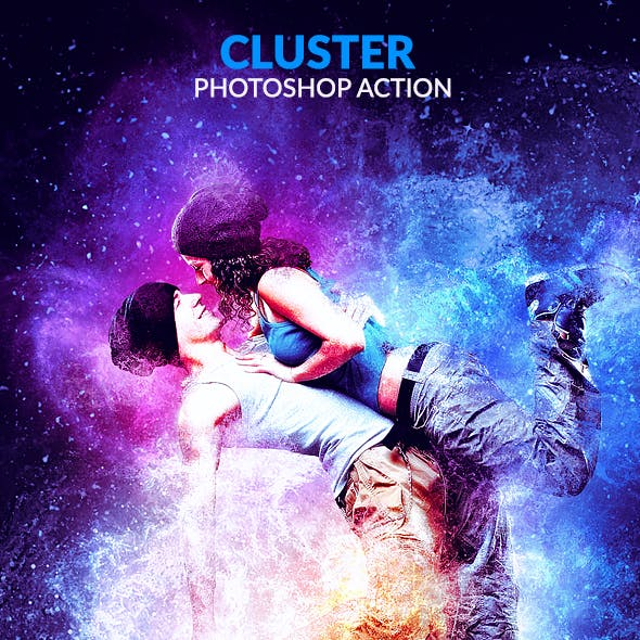 Cluster Photoshop Action